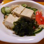 出来た たぬき豆腐